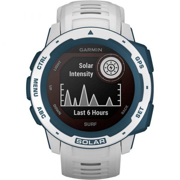 Garmin Instinct Solar Surf Smartwatch 45 mm Zilver/antraciet