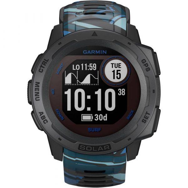 Garmin Instinct Solar Surf Smartwatch 45 mm Platina-grijs